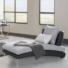 Attractive Bedroom Chaise Longue Chairs And White Comfort Cushion With  Black Quilt