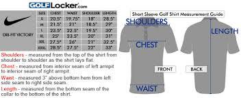 Nike Dri Fit Victory Size Chart