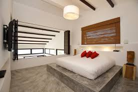 bedroom floor designs. Bedroom Floor Design Black White Red Bed Conrete Interior Ideas Designs