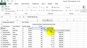 Salary Calculator In Excel Free Download Microsoft Excel 02 Payroll Part 2 How To Use If Formula