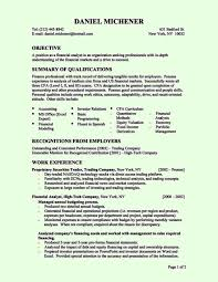 perfect financial analyst resume objective entry level resume samples of entry level resumes
