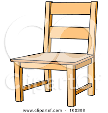 chair clipart. wood chair by lal perera clipart
