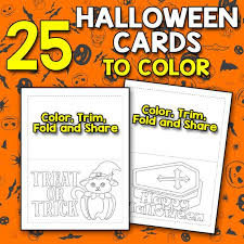 In addition to the halloween greeting cards you can download here you will be able to download: Best Value 25 Printable Halloween Cards To Color Create Color Etsy