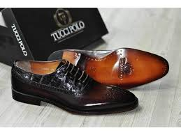 tuccipolo troy tp handmade genuine crocodile with brown italian leather mens luxury designer shoe