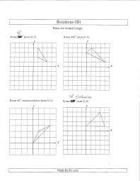 Transformations Worksheets Graph Worksheet Kindergarten Grade ...