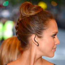 Jessica Alba Updo Hairstyles Met Gala Beauty Jessica Albas Braided At The Back Bun Buns