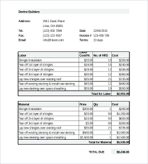 Free Plumbing Invoice Template Magnificent Plumbing Estimate Template Free Thepatheticco