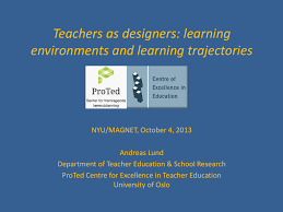 Teachers As Designers Of Learning Environments Activity Theory As Design For Learning And Teaching