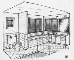 Models Simple Bathroom Drawing Draw L To Modern Design