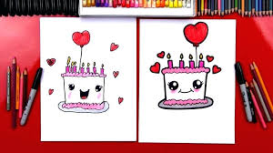 Birthday Cake To Draw Birthday Cakes Cake Drawing Step By How To
