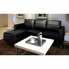 vidaXL Sectional <b>Sofa</b> 3-<b>Seater Artificial</b> Leather Black Lounge ...