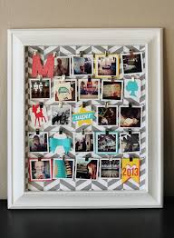 Cute idea for pictures. She used instagram photos, but with a larger frame  you