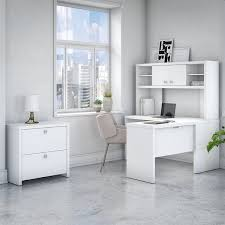 white l shaped desk with hutch. Wonderful With Office By Kathy Ireland Echo L Shaped Desk Hutch And Cabinet In White To Desk With E