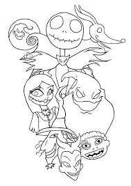 The Nightmare Before Christmas Coloring Pages Characters 22 Best
