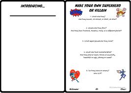 Characteristics Of A Superhero Make A Superhero Or A Villain Worksheet Free Esl Printable