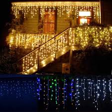 Christmas Garland Led Curtain Icicle String Light 220v 5m