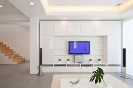 Tv Set Design Living Room Decoration Sophisticated Wall With Its Decorations And A Modern