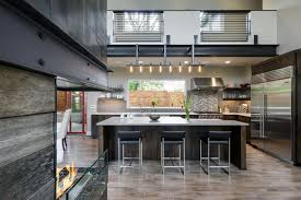 Modern industrial homes Exterior Contemporary Hilltop Home Makes Space For Fortable Living Indoors Bostoncondoloftcom Modern Industrial Homes Beautiful Style House Plans Regarding Home