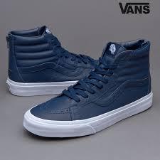 vans sk8 hi reissue zip premium leather shoes structural blue mens ainqrsvx19