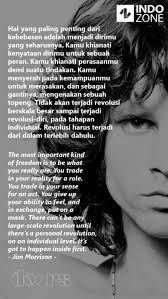 Yuk, langsung simak kumpulan kata kata bijak dalam hubungan, cinta, dan seperti bunga di taman, rasa cinta harus dipupuk dan disiangi, segarkan hubungan dengan memuji pernikahan bukan hanya sebaris kata.ia adalah rangkaian kalimat kehidupan.yang didalamnya aneka kenyataan tentang cinta. Kumpulan Quotes Dan Kata Bijak Jim Morrison Pujangga Rock N Roll Kontroversial Indozone Id