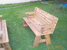 wooden bench kits unbelievablek kit picture ideas picnic table combo plan diy home depot cast iron