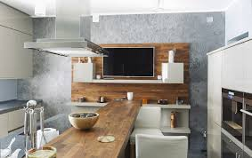 modern kitchen island. Interesting Modern Kitchen With Long Narrow Island