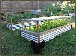 corrugated metal garden beds diy fence