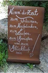 Bo Metall Schild Zum Thema Garten Wenn Meine Seele Urlaub Braucht