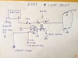 battery wiring and lights diy go kart forum u see if u leave the dash switch on then the circuit operates like u want the lights only turn off when the engine turns off