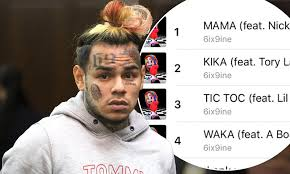 Tekashi 6ix9ines Singles Are Dominating The Charts After