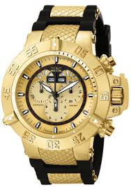 digital watches invicta diver black dial stainless steel mens watches invicta on the invicta men s subaqua chronograph gold color dial watch looks