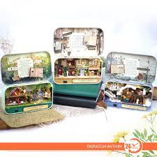 mini furniture. 3D DIY Miniature Wooden Puzzle Dollhouse Mini Furniture Decoration Toy For Kid Birthday Gift Box Theatre R