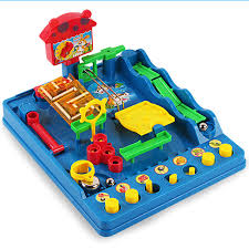 new montessori desktop toys waterpark of the beckham adventure child puzzle desktop game fun passage