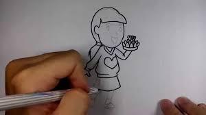 วาดการตน กนเถอะ สอนวาด การตน ผหญง ถอกระทง ลอยกระทง