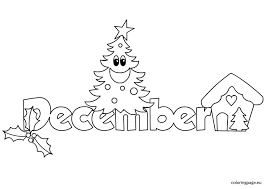 Small Picture Month December Coloring Page