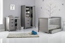 grey stamford cot bed 3 piece nursery furniture set