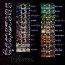 Eye Color Chart Gemstone Eyes Color Chart The Gemstone Series Is Currently