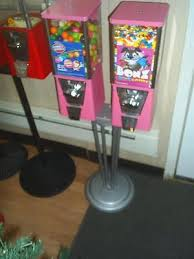 Used Pull Tab Vending Machines Best TWO USED OAK VISTA Gumball Machines With Stand Pink 4848 PicClick