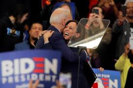 Amid protests, Harris emerges as top contender for Biden's V.P. ...