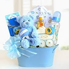 amazon wele baby newborn baby blue gift basket for baby boy birthday gifts for a boy baby