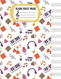 Blank Sheet Music Music Manuscript Paper Large Print 8 5x11