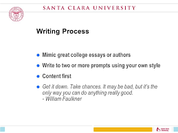 don t try to figure out what other people want to hear from you writing process mimic great college essays or authors