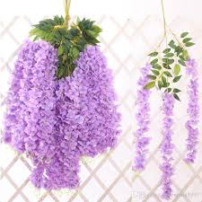 2019 artificial plants flower wall hanging wisteria flower for wedding decoration encrypted wisteria wall mounted silk flower from greenland1991