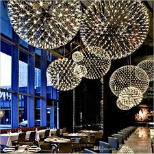 bar pendant lighting. Bar Light Modern Firework Pendant Lights Led Stainless Steel Ball Lamp For Bar/Restaurant Lamparas Lustre Glass Shades Lighting