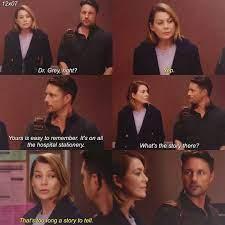 Riggs: Dra. Gray, ¿verdad? Meredith: Sí Riggs: el tuyo es fácil de  recordar. Está en todos los e… | Greys anatomy memes, Greys anatomy funny,  Greys anatomy episodes