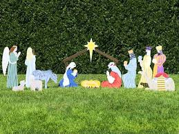 outdoor nativity set home outdoor nativity sets the complete nativity 1 life size lighted outdoor nativity sets