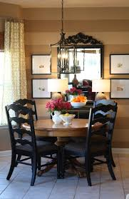 i like this idea of mirrors in a small dining room maybe with plants in