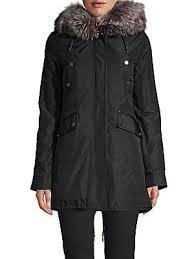 nicole benisti belleville fox fur trimmed lined coat