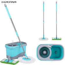 iKayaa DE Stock Spin Mops Stainless Steel 360 Rolling Magic Spin