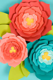 Paper Flower Cutting Tools How To Make 3d Cricut Cardstock Flowers Step By Step Instructions